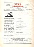 Tijdschrift Magazine FIRE Engineering - Brandweer - Pompiers - Jaargang Year 1933 - - Non Classés