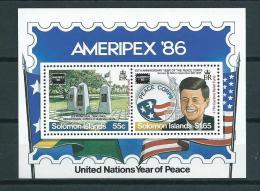 1986 Solomon Islands Complete M/Sheet Ameripex MNH,Postfris,Neuf Sans Charniere - Salomoninseln (Salomonen 1978-...)