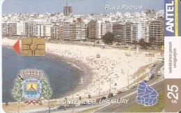 Nº 282 TARJETA DE URUGUAY DE LA PLAYA DE POCITOS EN MONTEVIDEO - Uruguay