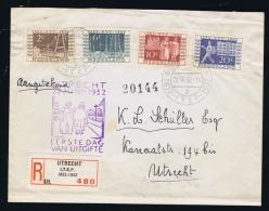 Aangetekende FDC 1952 ITEP Utrecht NVPH Nummers 592-595 !! - FDC