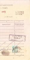 INDIA JAIPUR STATE ONE ANNA GREED REVENUE STAMP USED ON DOCUMENT FROM SAMBHAR LAKE IN 1948 - Jaipur