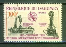 Distributeur Du Télégraphe Baudot - DAHOMEY - Téléphone Système Ader - U.I.T. - N° 222 - 1965 - Benin – Dahomey (1960-...)