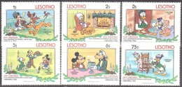 Walt Disney  MiNr.  433 - 435,437-439 Lesotho  MNH / ** / POSTFRISCH - Disney