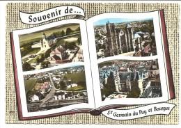 CPSM 18 Souvenir De Saint-Germain Du Puy Et Bourges . Multivues - Other Municipalities