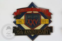 Super XXV Bowl, January 27, 1991 Tampa - 25th Anniversary - Pin Badge #PLS - Fútbol
