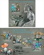 CENTRAL AFRICA 2014 ** M/S + S/S Scouting Mushrooms Pfadfinder Pilze Scoutisme Champignons Scouting Setas B1439 - Mushrooms