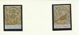 UNITED NATIONS NEW YORK - ONU - UN - UNO 1969 ART Ostrich, Tunisian MOSAIC ARTE MOSAICO AUSTRIACO TUNISINO MNH - New-York - Siège De L'ONU