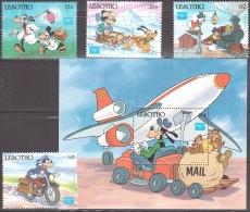 Walt Disney  MiNr. 589 - 593 (Block 35) Lesotho  MNH / ** / POSTFRISCH - Disney