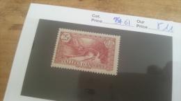 LOT 225646 TIMBRE DE ANDORRE NEUF* N�61 VALEUR 11 EUROS