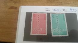 LOT 225682 TIMBRE DE ANDORRE NEUF** N�212/213 VALEUR 50 EUROS