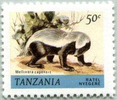 Yvert N° 166 - Timbre De Tanzanie (MNH) - Ratel Nyegere - Mellivora Capensis (JS) - Tansania (1964-...)