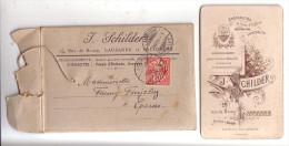 Publicité J. Schilder Photographe Lausanne Et Vallorbe, Etui Cartonné Pour Envoi De Photo Circulé En1901 - Photographie