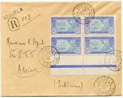 COTE D'IVOIRE LETTRE RECOMMANDEE DEPART SEGUELA 18 AOUT 15 COTE D'IVOIRE ARRIVEE ASSINIE 30 AOUT 15 COTE D'IVOIRE - Côte-d'Ivoire (1892-1944)