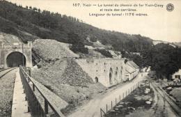 BELGIQUE - NAMUR - YVOIR - Le Tunnel Du Chemin De Fer Yvoir-Ciney Et Route Des Carrières. (167). - Yvoir