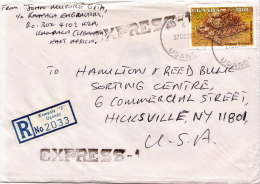Postal History Cover: Uganda Turtles Stamps On 2 Covers And Lithuania Cover - Turtles