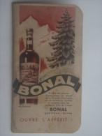 CALENDRIER DE POCHE PUBLICITE BONAL 1938