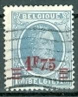 Belgien 1927 1,75 F. Auf 1,50 F.. Gest. König Albert I. - 1893-1900 Schmaler Bart