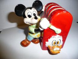 MICKEY ET PICSOU TIRELIRE MACHINE A SOUS CERAMIQUE - Disney