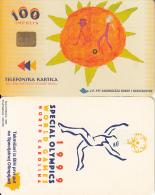 BOSNIA - North Carolina 1999 Special Olympics(100 Units), 05/99, Chip Siemens 35, Used - Bosnia