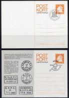 SWEDEN 1974 Swedish Post In Hamburg Set Of 2 Postal Stationery Cards,  Cancelled..   Michel P95, 95 I - Postal Stationery