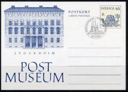 SWEDEN 1973 Postal Museum  Postal Stationery Card,  Cancelled..   Michel P94 - Postal Stationery