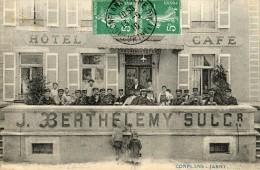 CONFLANS JARNY Hôtel Café BERTHELEMY Carte Très Très Rare !!!!!! - France