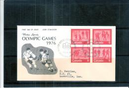 FDC Canada - Innsbruck 1976 - Série Complète (à Voir) - Winter 1976: Innsbruck