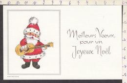 N2764/ Père Noël Jouant De La Guitare, 2 Scans - Santa Claus