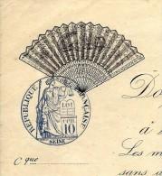 RARE ENTETE 1893 EVENTAILS V. HUGO PARIS T.B.E. V. DESCRIPTION + SCANS+ HISTORIQUE - 1800 – 1899