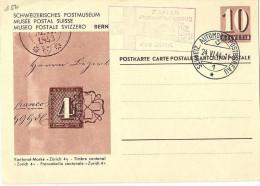 "PK 161  ""Kantonal Marke Zürich""   (Sonderstempel IKRK)          1944 - Entiers Postaux"