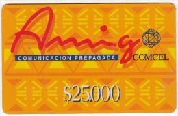 COLOMBIA - Amigo, Comcel Prepaid Card $25000, Used - Colombia