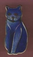 37859-Pin's.Chat Bleu. - Animali