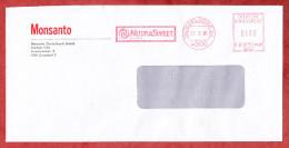 Brief, Monsanto, Francotyp-Postalia B66-7425, NutraSweet, 100 Pfg, Duesseldorf 1990 (60442) - BRD