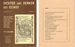ALSATIQUE : DENTINGER Jean - Dichter Und Denker Des Elsass Von 600 Bis 1600 - Bücher, Zeitschriften, Comics