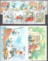 Walt Disney  MiNr. 888 - 898 (Block 113) Bhutan  MNH / ** / POSTFRISCH - Disney