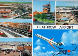 AK AERODROME AIRPORT HEATHROW AIRPORT LONDON ALTE POSTKARTE 1975 - Aerodrome