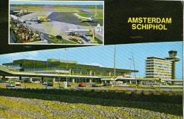 AK AERODROME AIRPORT SCHIPHOL  AMSTERDAM HOLLAND  ALTE POSTKARTE 1964 - Aérodromes