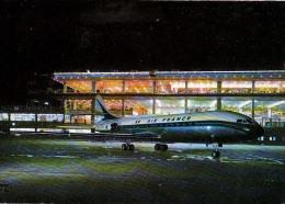AK AERODROME AIRPORT AEROPORT DE PARIS ORLY  CARAVELLE AIR FRANCE  ALTE POSTKARTE 1971 - Aerodrome