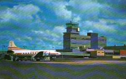 AK AERODROME AIRPORT CLEVELAND OHIO   ALTE POSTKARTE 1961 - Aérodromes