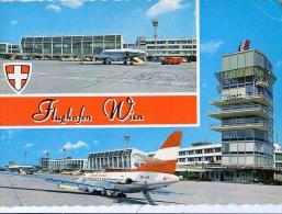 AK AERODROME AIRPORT  FLUGHAFEN WIEN - SCHWECHAT  ALTE POSTKARTE 1971 - Aérodromes