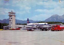 AK AERODROME AIRPORT  LETALISCE LJUBLJANA - BRNIK SLOWENIEN ALTE POSTKARTE - Aérodromes