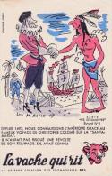 ANCIEN BUVARD PUB LA VACHE QUI RIT ILLUSTRATEUR BAYLE LES DECOUVERTES N°1 CHRISTOPHE COLOMB - Dairy