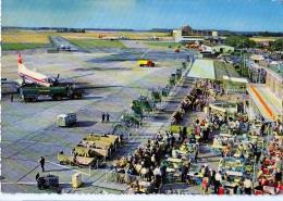 AK AERODROME AIRPORT  FLUGHAFEN DÜSSELDORF ALTE POSTKARTEN 1962 - Aérodromes