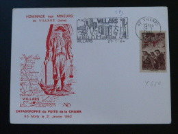 Carte Maximum Maximum Card Catastophe Minière Mine Villars Loire 1984 - Géologie