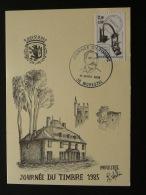 Carte Locale Eugène Daguin Journée Du Timbre Morestel Isere 1985 - Stamp's Day