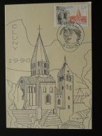 Carte Maximum Maximum Card (carte électronique Imprimée Par Ordinateur) Cluny Saone Et Loire 1990 - Cartoline Maximum