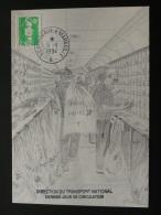 Carte Postcard Ambulant Wagon Poste Railway Post Train Bordeaux à Marseille 1994 - Marcophilie (Lettres)