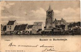 Blankenberge  2   CPA Kerk Nels 28 N°  4  1901  Havenwerken Nels 28 N°44 - Blankenberge