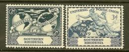 SOUTH RHODESIA, 1947, Mint Never Hinged Stamp(s) 75 Years U.P.U. MI Nrs. 70-71, #9001 - Southern Rhodesia (...-1964)
