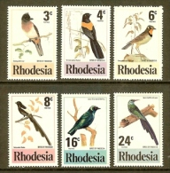 RHODESIA, 1977, Mint Never  Hinged Stamp(s) Birds, MI Nrs. 188-193, #9003 - Rhodesia (1964-1980)